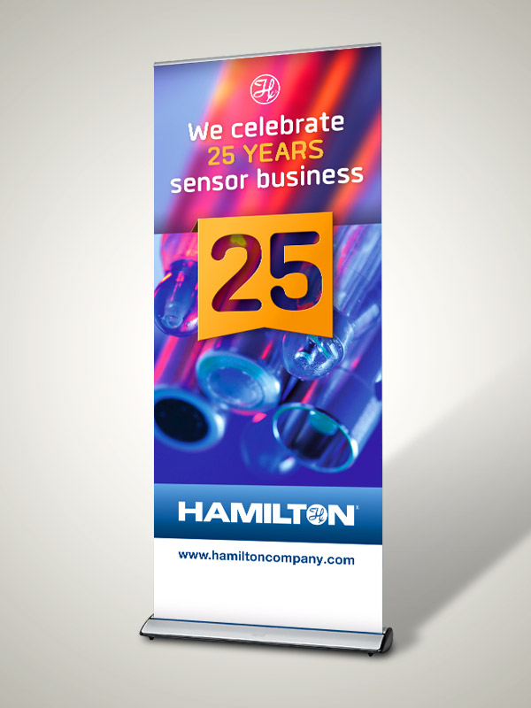 ROLL-UP DISPLAY, Hamilton Bonaduz AG